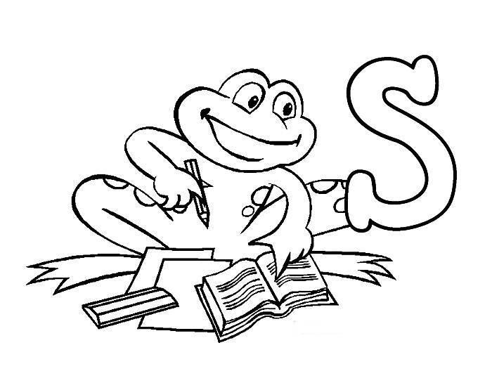 Desenho De Letra Z De Zoológico Para Colorir: Letras Do Alfabeto Letra S Desenhos Preto E Branco Para