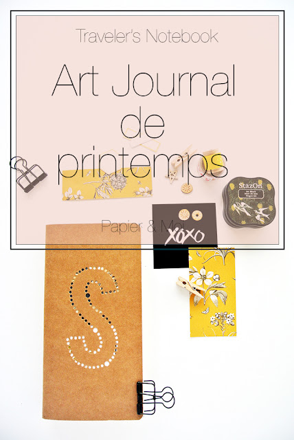 Traveler's Notebook Art Journal - Papier et Moi