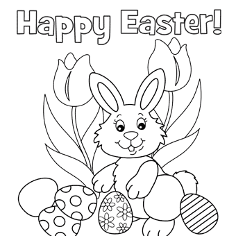 Easter Simple Coloring pages