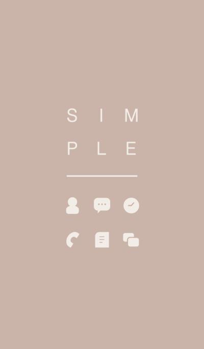 SIMPLE / beige.