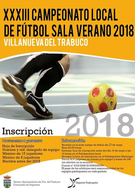 Competiciones de Fútbol Sala y Fútbol 7 en Villanueva del Trabuco