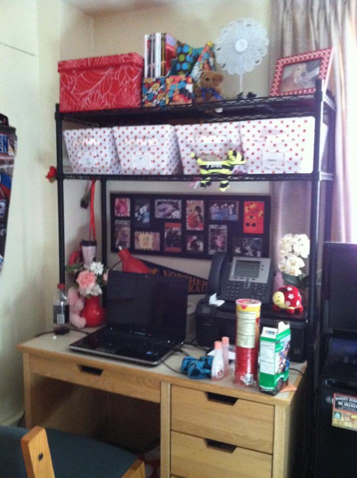 Caitiebug Love How to Dress Your Dorm Desk