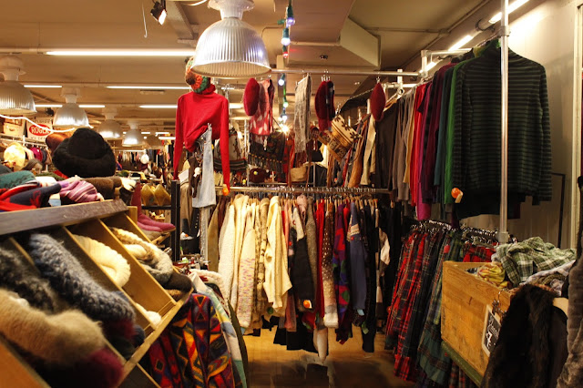 """Image of the inside of """"Kilo"""" a vintage shop in Amsterdam"""