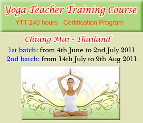 Yoga Teacher Training Course Ttc 240 Hours Chiang Mai Thailand Wise Living Yoga Academy