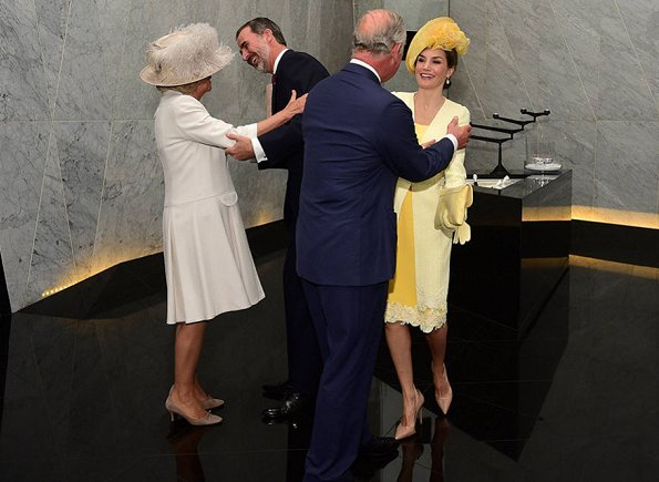King Felipe VI and Queen Letizia of Spain officially welcomed by Queen Elizabeth II, Prince Philip, Prince Charles and Duchess Camilla in central London, UK
