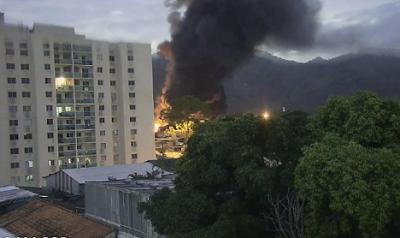 Estúdios da Globo sofrem incêndio de grandes proporções nesta quinta-feira (09)