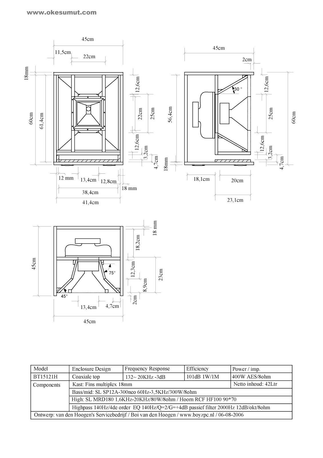 Skema Ukuran Box Speaker 15inch Mid Daftar Harga Terbaru
