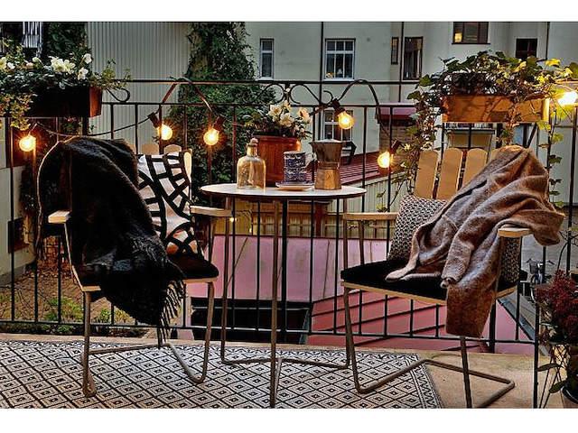 10 trucos para decorar tu hogar en invierno por menos de 100€. Decorar la terraza en invierno.