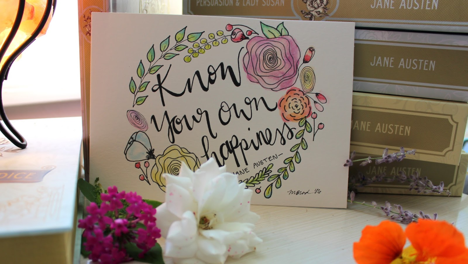 The Book Rat Giveaway Hand Lettered Painted Jane Austen Quotes