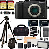 Panasonic DMC-GX8KBODY LUMIX GX8 Interchangeable Lens DSLM Camera Body Only + Transcend 64 GB 2 Pack + Polaroid 72 Inch Tripod + LED Light and Flash Kit + 2 Spare Batteries + Charger + Accessory Kit