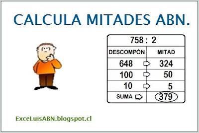 Calcula mitades ABN.