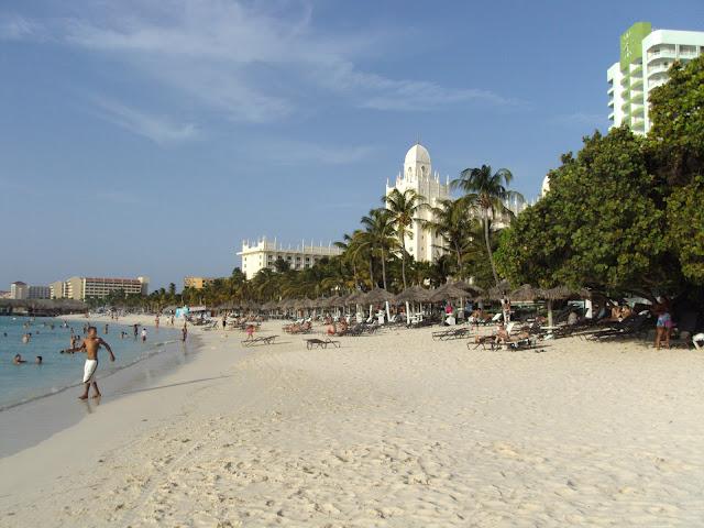Praia de Palm Beach, em frente ao Westin Hotel - Aruba