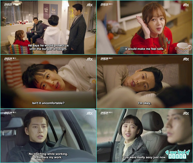 after the burglary guard kim come to stay at do ha's house for few days - Man To Man: Episode 6