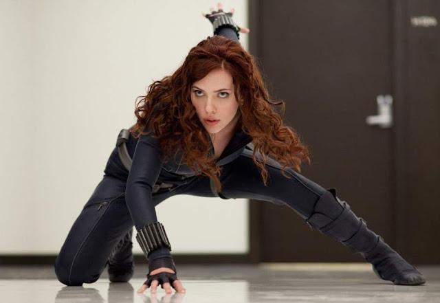 Scarlett Johansson como Viuda Negra en las películas de Marvel