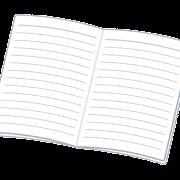 開いたノートのイラスト