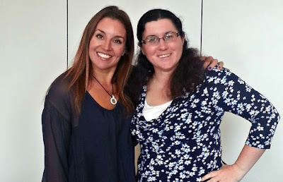Sarah Willingham with Fan