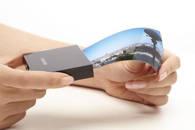 Samsung y las pantallas flexibles