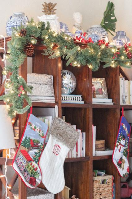 needlepoint Christmas stockings