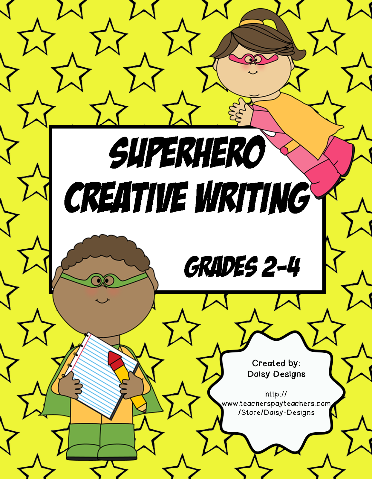 Daisy Designs Superhero Creative Writing