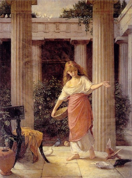"""""""In the Peristyle"""" painting by John William Waterhouse"""