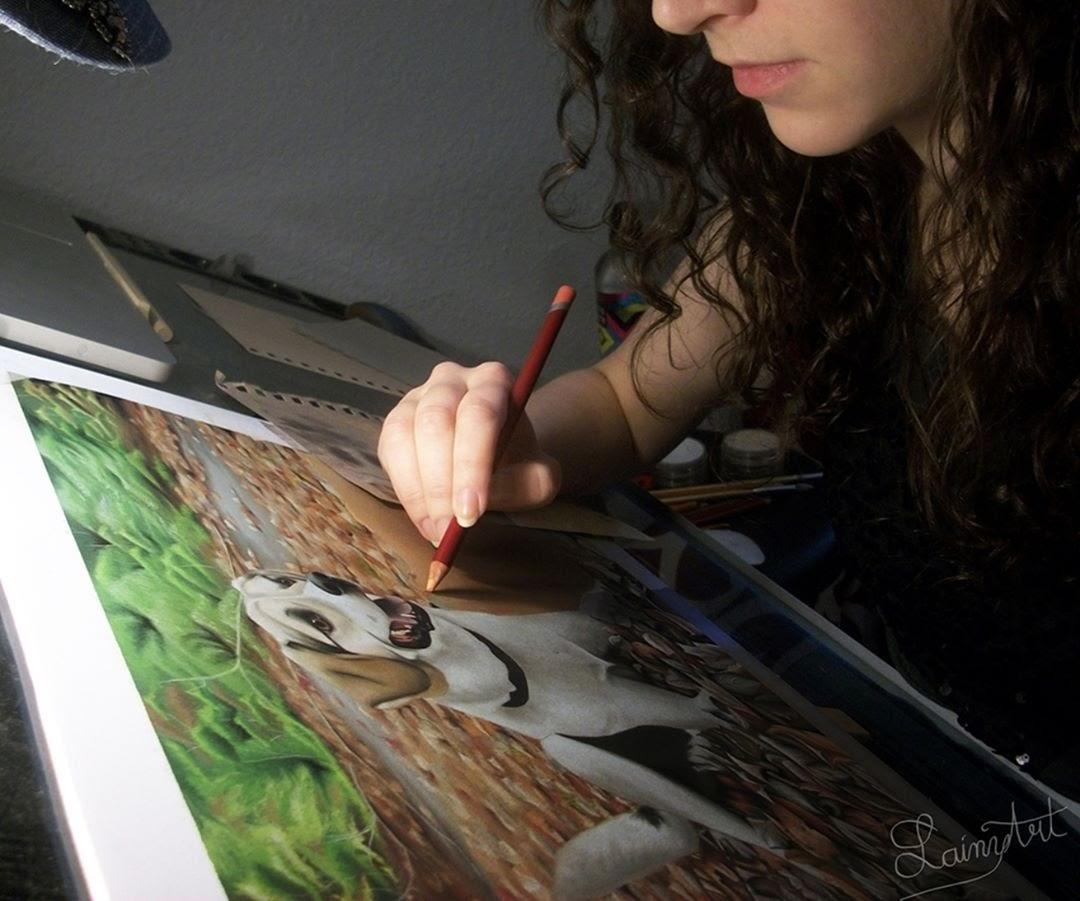 12-Hundreds-of-Leaves-Alaina-Ferguson-Animal-Portraits-Cats-Dogs-and-a-Guinea-Pig