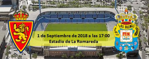 Previa Real Zaragoza - UD Las Palmas 1 septiembre 17:00
