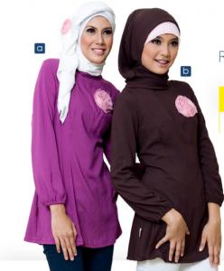 Contoh desain baju muslim remaja santai