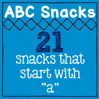 letter of the week snacks, snacks that start with a, food that starts with a