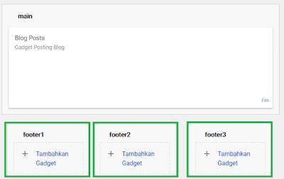 Menambah Multi Kolom Gadget di Bawah Footer Blog