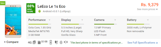 LeEco Le 1s Eco Configuration