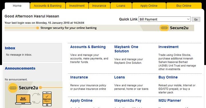 Penyata Contoh Bank Statement Maybank