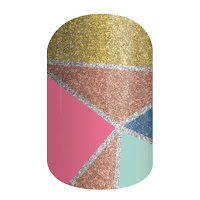 jamberry sister's style exclusive, color crush, nail wrap, nail art, color block, glitter, jamberry, jamberry consultant