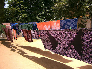 Fabric produced by detainees during the ten-day training.