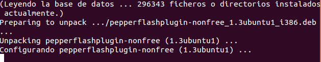 instalar el Plugin de Adobe Flash Player en Ubuntu 14.04 lts para Chromium