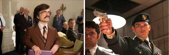 Peter Dinklage and Josh Helman as Dr Boliver Trask and William Stryker in X Men Days of Future Past