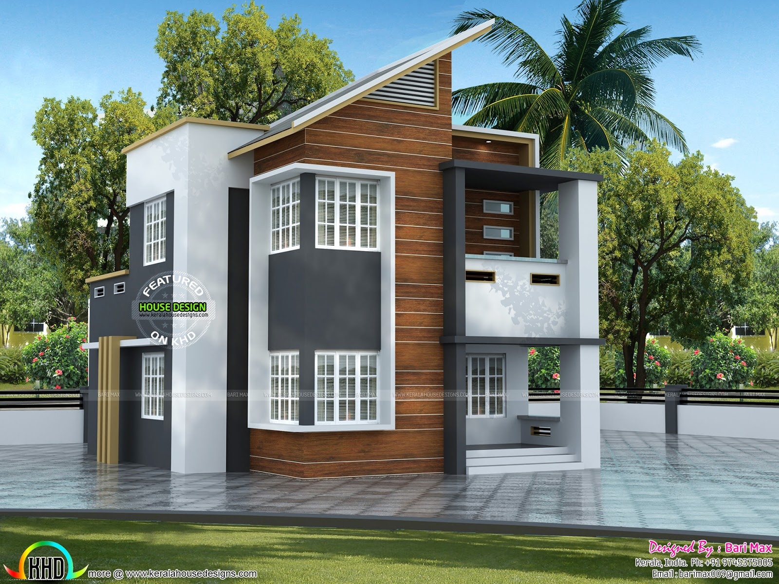 Home Design Kerala With Cost   Cost U20b922 Lakhs 1550 Sq Ft Home Kerala  Home Design