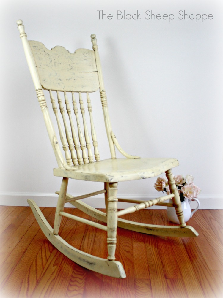 After: Restaged with neutral background.  The focus is now on the rocking chair.
