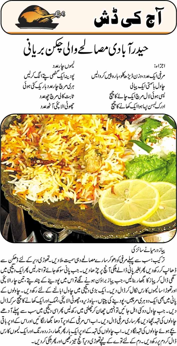 Eid Food Recipes In Urdu