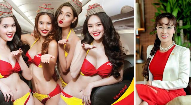 Foto CEO VietJet Air Dan pramugari vietnam berbikini