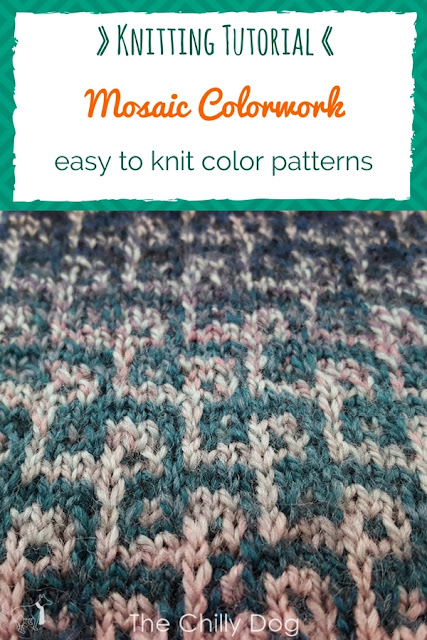 Video Tutorial - Learn how to knit mosaic colorwork in the round
