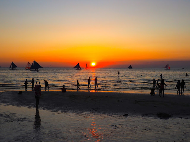 Sunset from White Beach, Boracay, Philippines