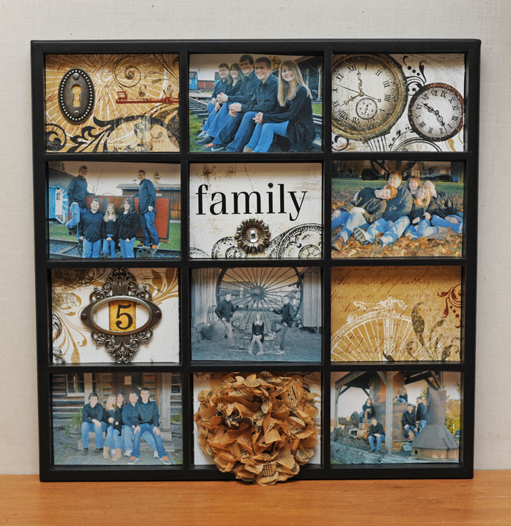 crafted by joy - Diy Picture Frame Collage