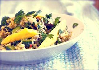 Resep Salad Mangga dengan Ayam Asap