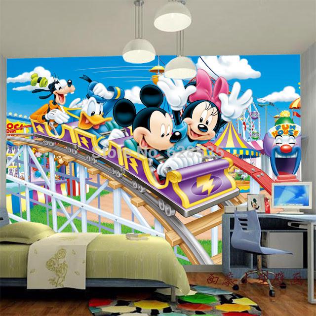 Valokuvatapetti Lapsia Disney mikki hiiri  lasten tapetti lastenhuoneeseen