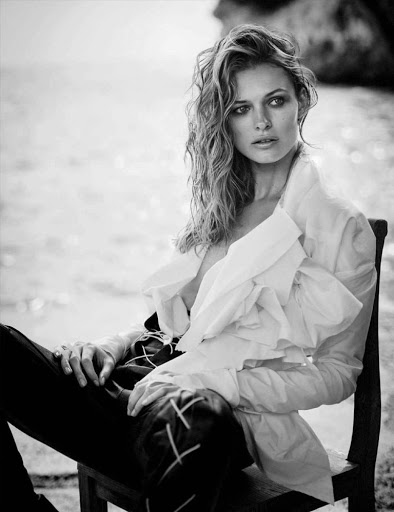 Hot model Edita Vilkeviciute Vogue Germany magazine topless photoshoot
