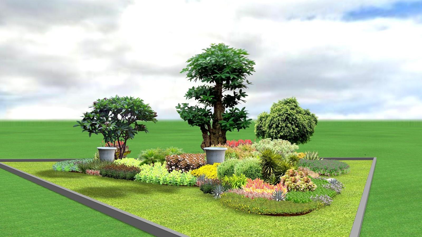 Desain Taman Jalan Gambar Desain Rumah Minimalis