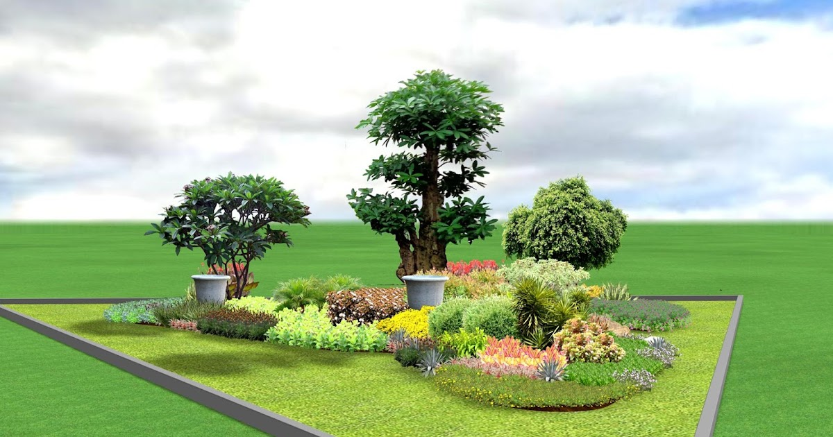 Desain Taman Minimalis Pinggir Jalan