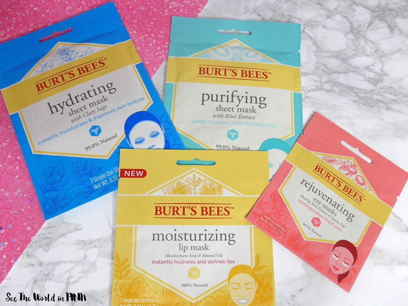 Mask Wednesday - Burt's Bees Face, Eye and Lip Masks Review