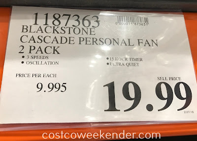 Deal for the Blackstone Cascade Personal Fan 2-pack at Costco