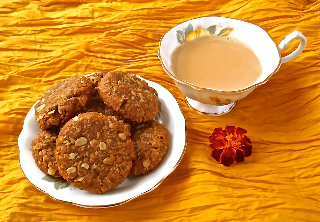 australia new zealand anzac biscuits recipe veg vegetarian golden syrup coconut